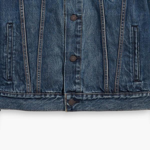 Levis 男款 牛仔外套 / Type3經典修身版型 / 精緻深藍洗舊
