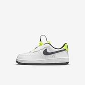 Nike Force 1 Toggle Ps [CU5287-101] 大童鞋 運動 休閒 舒適 皮革 穿搭 白 灰