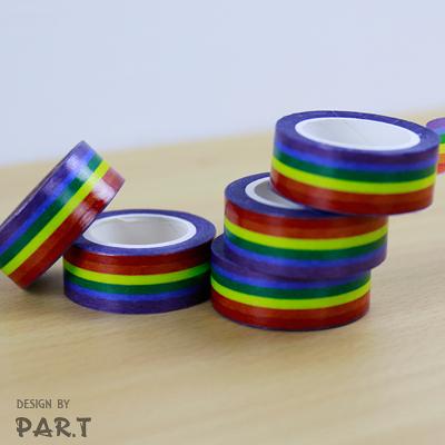 【PAR.T】文具配件/六彩紙膠帶