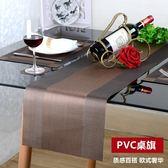 歐式PVC桌旗奢華長條桌布易清洗速干餐墊透氣桌墊茶幾巾茶席 定制