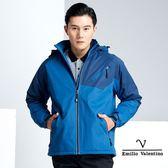 【Emilio Valentino】戶外休閒機能保暖防風防潑水外套 - 藍/丈青