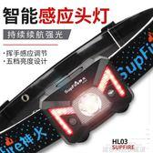 頭燈 神火頭燈強光感應led可充電夜釣魚米超亮打獵防水頭戴式3000礦燈 城市科技