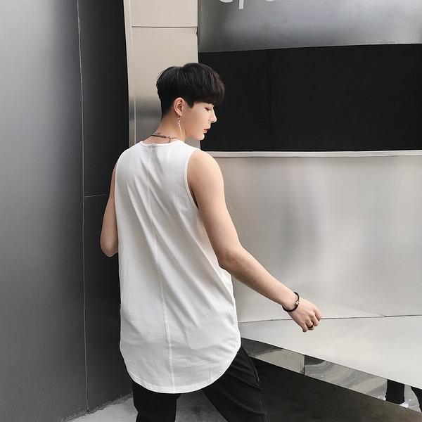 FINDSENSE品牌 韓國 暗黑國 潮流 無袖 純色 寬鬆 背心 時尚