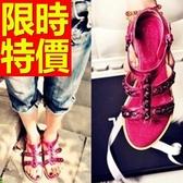涼鞋-平底休閒品味細緻精緻女休閒鞋2色56l41【巴黎精品】