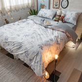 【預購】碳化森林 S3單人床包與雙人新式兩用被四件組 100%精梳棉 台灣製 棉床本舖