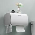 衛生紙架 衛生紙盒衛生間紙巾置物架廁所家免打孔掛壁式創意抽紙盒卷紙筒【快速出貨八折搶購】