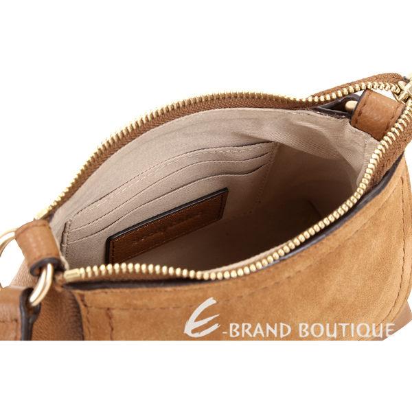 [ NG大放送 ]SEE BY CHLOE Joan 迷你款 棕色編織金屬環拼接皮革手提肩背包 1890070-B3