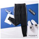 Catworld 晨光幻彩。側拼色反光條縮口運動褲【12002025】‧S-XL
