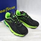 GOODYEAR GA童輕量慢跑鞋 中大童 透氣織布 束帶 GAKR18435 黑X螢光綠【iSport愛運動】