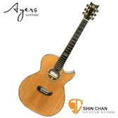 Ayers ACSO Australia 手工全單板鑲貝民謠吉他  附木吉他硬盒