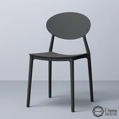 E-home 二入組 Sunny小太陽造型餐椅 三色可選黑色x2