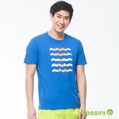 印花短袖T恤15藍紫-bossini男裝