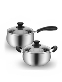 304不銹鋼奶鍋煮熱牛奶鍋家用小鍋泡面小煮鍋湯鍋寶寶嬰兒輔食鍋  ATF  夏季新品