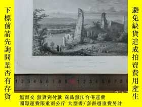 二手書博民逛書店【罕見】19世紀 銅 鋼版畫 單幅 RUINS OF LIMBI