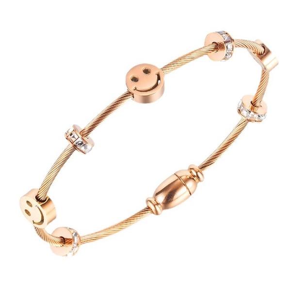 鈦鋼手環 時尚設計微笑手環