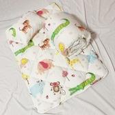 【Leafbaby】台灣製幼兒園專用可機洗精梳純棉兒童睡墊組-動物園班