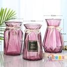 花瓶 【三件套】玻璃花瓶彩色透明水培富貴...
