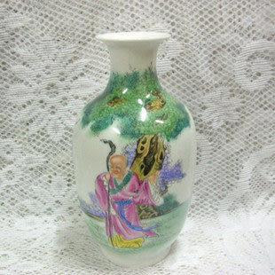 家居裝飾 景德鎮陶瓷器工藝品 藝術瓷 手繪花器 長媚羅漢