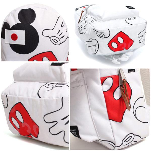 Hsin 超優惠 超限量 秒殺 聯名 現貨 Herschel Settlement  迪士尼  Mickey 米奇 白色 日本 帆布 後背包
