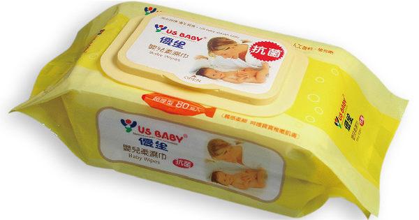 USBABY優生嬰兒柔濕巾超厚型 80抽 *維康