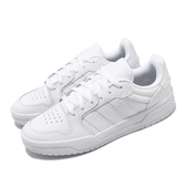 adidas 休閒鞋 Entrap 白 全白 男鞋 小白鞋 皮革鞋面 運動鞋 【PUMP306】 EH1865