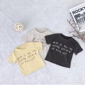 1714 童裝新品中小童2019春夏款短袖T恤 韓版純棉字母印花寬松T恤