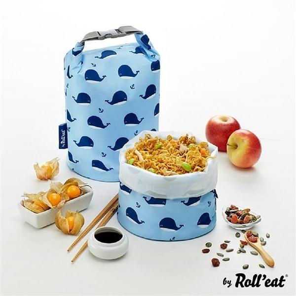 桶裝食物袋/悠遊小藍鯨【Roll'eat西班牙食物袋】
