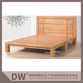 【多瓦娜】19058-156001 宙斯原木色5尺實木床台
