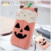 手機袋~雅瑪小舖日系貓咪包 啵啵貓萬聖節南瓜手機袋/拼布包包