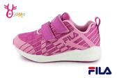 FILA 運動鞋 女童 夜光系列 輕量慢跑鞋 O7634#粉紫◆OSOME奧森童鞋
