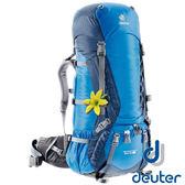 【德國 deuter】Aicontact 拔熱式透氣背包 60+10L (附防雨套 / 女版 / 容量可加大)『藍/深藍』33452 登山