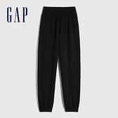 Gap女裝 活力款鬆緊休閒長褲 782821-黑色