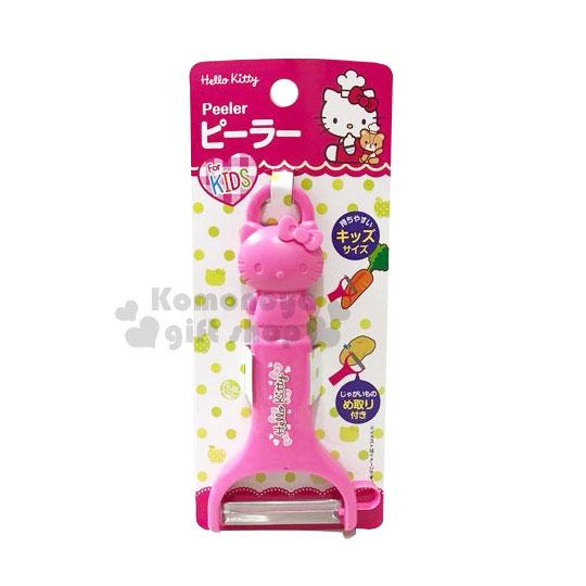 〔小禮堂〕Hello Kitty 造型削皮器《桃.站立》削皮刀.皮引.銅板小物 4573135-57728