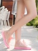 透明可愛成人短筒雨鞋女防水鞋防滑膠鞋套鞋韓國時尚款外穿雨靴夏 歐韓流行館