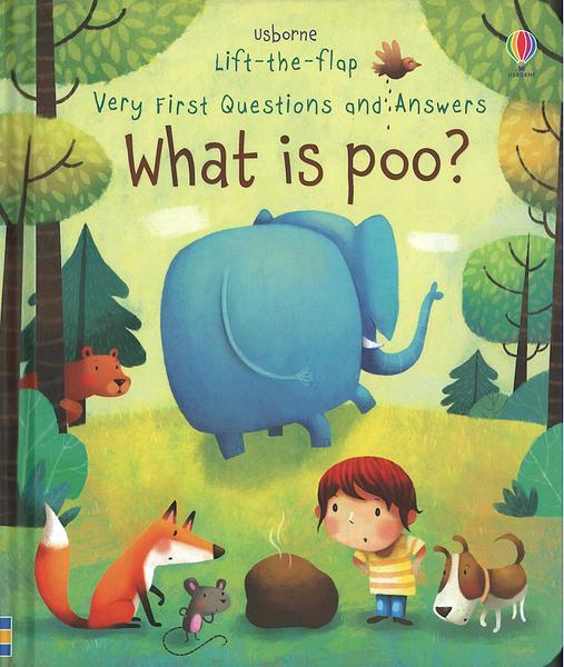【關於細菌.幼兒科普書】WHAT IS POO ? /VERY FIRST QUESTIONS AND ANSWERS /硬頁翻翻書