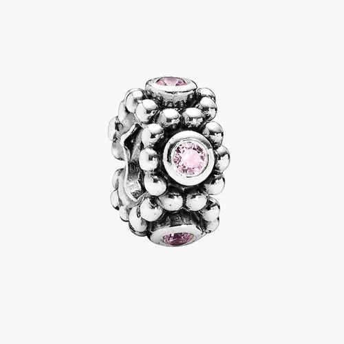 Pandora 潘朵拉丹麥時尚飾品 Her Majesty 貴族花圈粉紅水鑽 串珠墜飾 925純銀手鍊手環 情人 禮物