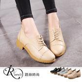 歐美時尚簡約休閒復古風綁帶低跟包鞋/3色/35-43碼 (RX0865-625) iRurus 路絲時尚