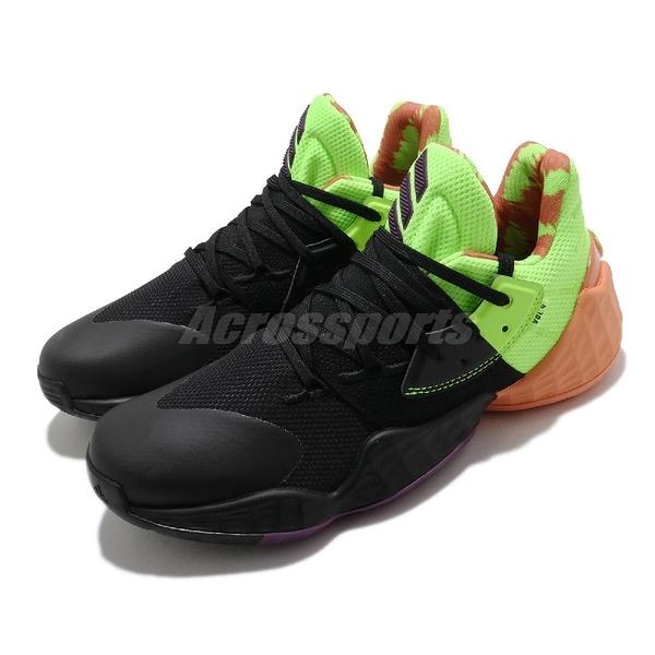 【海外限定】adidas 籃球鞋 Harden Vol. 4 GCA 黑 螢光綠 橘 哈登 男鞋 大鬍子 【ACS】 FV4711