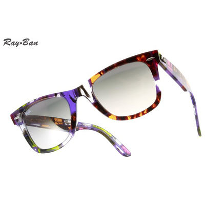 RayBan 太陽眼鏡 RB2140 110932 (時尚歡夏迷幻紫) 50mm Wayfarer獨家繽紛色系墨鏡 # 金橘眼鏡
