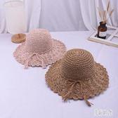 遮陽帽女夏天時尚大沿防曬可折疊沙灘帽蝴蝶結太陽帽zt554 『美好時光』