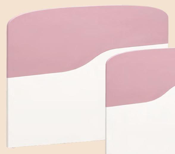 【森可家居】安妮塔5尺床頭片 7CM174-1 雙人 粉紅 白色 兒童