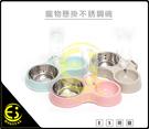 特價 寵物食盆 懸掛式不鏽鋼 狗碗 固定 貓盆 貓碗 狗籠掛碗 飲水盆 狗盆 懸掛不鏽鋼雙碗加水瓶