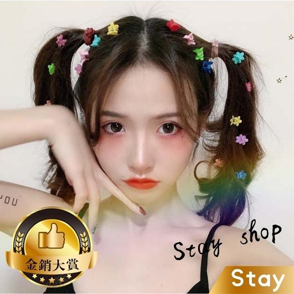 【Stay】網美同款 韓版糖果甜美色系爪夾 小髮夾 小夾子 劉海夾 一字夾 髮飾 髮夾 頭飾 邊夾【N27】