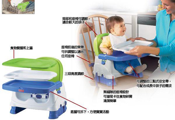 費雪 寶寶小餐椅/攜帶式