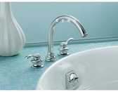 【麗室衛浴】美國 KOHLER  Fairfax 系列  缸邊式浴缸龍頭 K-12885T-4-CP