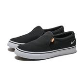 Nike Court Royale AC 白底 黑帆布 懶人鞋 (布魯克林) BQ9138-001