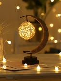 擺件燈網紅星星月亮小夜燈生日禮品少女心diy房間臥室創意裝飾燈 自由角落