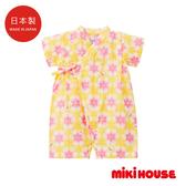 MIKI HOUSE 舞颯兔和風花柄浴衣
