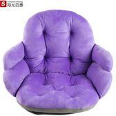 坐墊 連體靠墊一體辦公室椅墊女加厚學生座墊餐椅板凳子屁股墊子 koko時裝店
