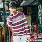 針織衫【F48821】OBI YUAN韓版粗針撞色橫條紋針織毛衣 共2色